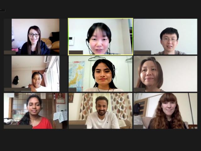 オンライン日本語クラスの授業風景
