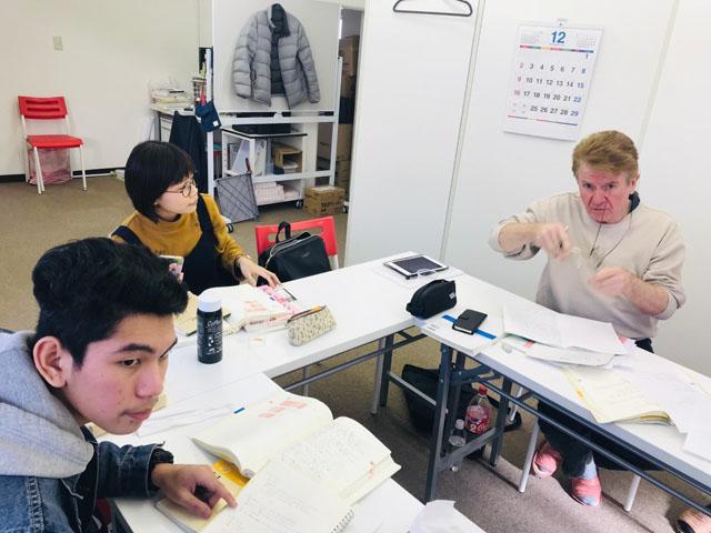 주 2회 수업의 수업 풍경